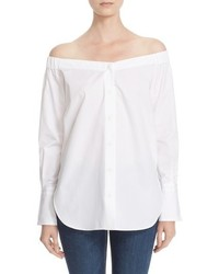 Rag & Bone Kacy Reversible Off The Shoulder Tunic Top