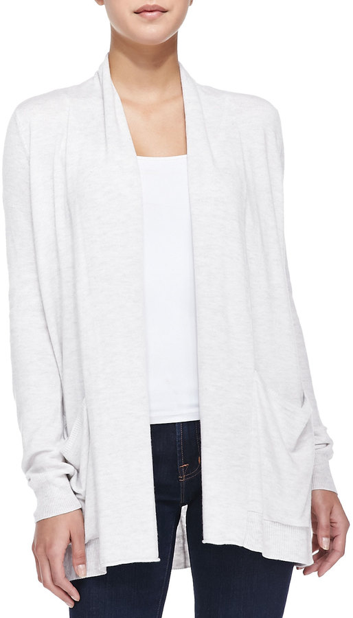 Splendid Long Open Front Cardigan With Pockets | Where to buy ...