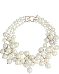 Kenneth Jay Lane Gold Plated Faux Pearl Necklace