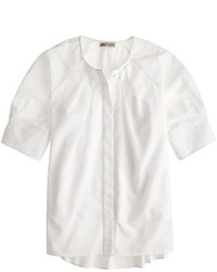 J.Crew Collection Thomas Mason For Cotton Voile Peasant Top