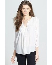 NYDJ Pintuck Peasant Blouse Off White Medium