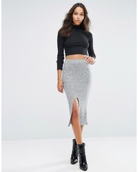 Asos Pencil Skirt In Cut Sew