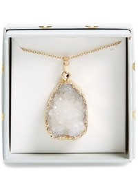 Panacea Drusy Pendant Necklace