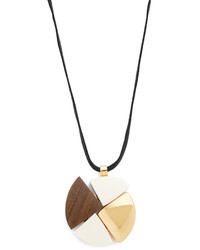Wood pendant necklace medium 1191041