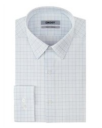 White Plaid Dress Shirt