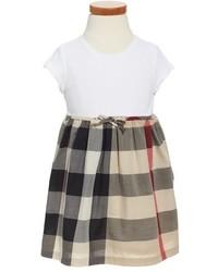 Burberry Mini Rosey Check Cotton Dress