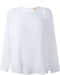 MICHAEL Michael Kors Michl Michl Kors Pleated Panel Sheer Blouse