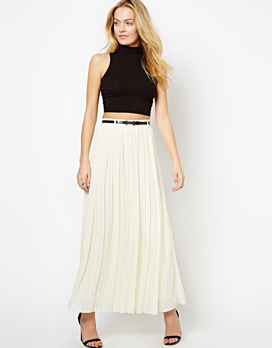 famous brand wholesale price 2019 best sell Pleated Maxi Skirt