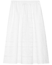 J.Crew Collection Laser Cut Poplin Midi Skirt