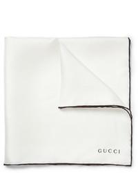 Gucci Contrast Edge Silk Pocket Square