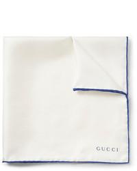 Gucci Contrast Edge Silk Twill Pocket Square