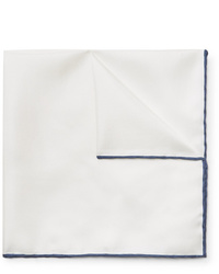 Emma Willis Contrast Tipped Silk Twill Pocket Square