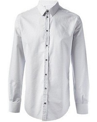 White Polka Dot Dress Shirt