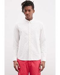 Forever 21 Ad Lib Multi Colored Polka Dot Shirt