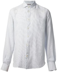 White Polka Dot Long Sleeve Shirt