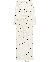 White Polka Dot Maxi Dress