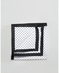 Asos Pocket Square With Polka Dot And Black Boarder