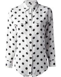 Signature spot slim shirt medium 6672