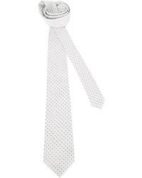 White Polka Dot Tie