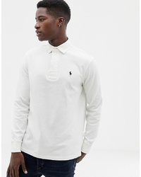 Polo Ralph Lauren Regular Fit Long Sleeve Rugby Polo In Off White