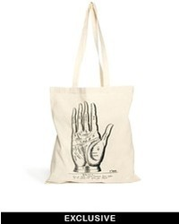 Reclaimed Vintage Canvas Tote Bag Beige