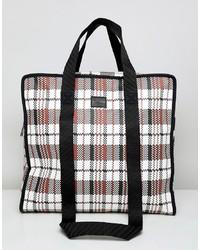 ASOS DESIGN Large Oversized Tote Bag In Check Print