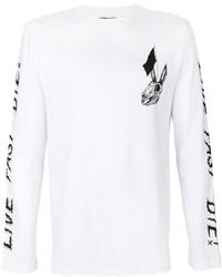 Alexander ueen skull rabbit print t shirt medium 3993655