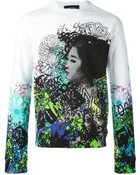 Graffiti print sweatshirt medium 732813