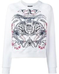 Alexander McQueen Tiger And Skull Embroidered Sweatshirt
