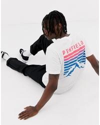 Penfield Caputo Back Print T Shirt In White