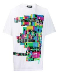 DSQUARED2 Glitch Print Logo T Shirt