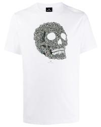 PS Paul Smith Graphic Skull Print T Shirt