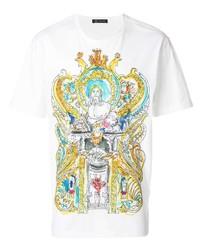 Versace Greek Mythology Drawing Print T Shirt
