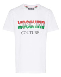 Moschino Italy Logo Cotton T Shirt