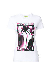 Versace Jeans Palm Tree Print T Shirt