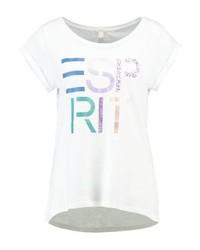 Esprit Print T Shirt White