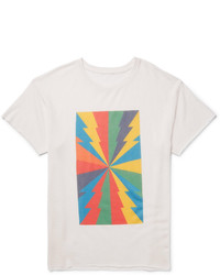 The Elder Statesman Printed Cashmere And Silk Blend T Shirt