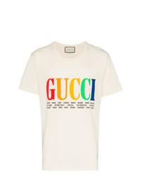 e4c4d51fafcf Men's White Crew-neck T-shirts by Gucci | Men's Fashion | Lookastic UK