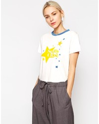 See by Chloe See By Chlo Star Print Logo T Shirt