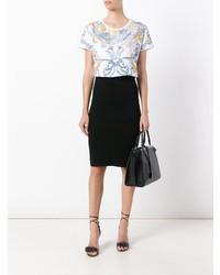 Fendi Baroque Print Cropped T Shirt
