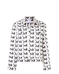 White Print Denim Jacket