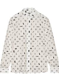 Kenzo Symbols Printed Cotton Jacquard Shirt