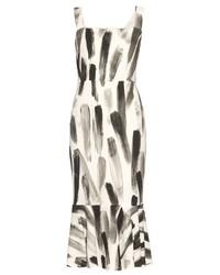 Dolce & Gabbana Paint Print Cady Dress