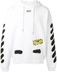 Off-White Striped Print Hoodie