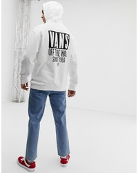 Vans Oversized Hoodie With Back Print In White Vn0a3hyjwht1