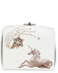 Unicorn box clutch bag white medium 716361
