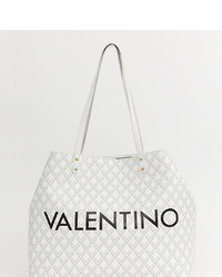 Valentino by Mario Valentino Geometric Print Branded Shopper Bag