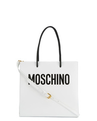 Moschino White Tote Bag