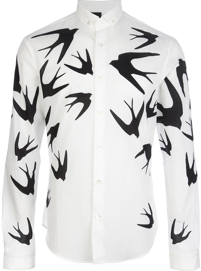 printed shirt - Black Alexander McQueen Outlet Store Cheap Online Excellent For Sale Clearance Comfortable Outlet Footlocker Pictures PnBQgJo