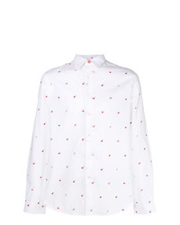 Ps By Paul Smith Micro Apple Print Shirt